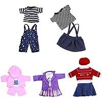 Dovewill 5セット 18インチ人形ドールアクセサリー トップTシャツ ズボン