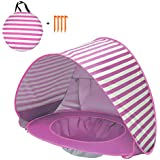 Docooler Pop Up Baby Beach Tent Waterproof Anti-UV Sun Shelter with Pool Kids Outdoor Sun Shade Awning Tent