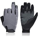 SRY-Gloves Paddling, Hiking, Fishing Gloves UV Protection Fishing Fingerless Gloves Sun Gloves Men for Fishing (Color : Gray, Size : M)