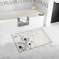 interestprintスカルラグジュアリーマイクロファイバー洗濯可能バスラグ床バスルームベッドルームリビングルーム 20