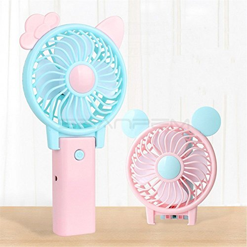 可愛い 持ち運び便利な手持ち扇風機 USB充電式携帯扇風機 ...