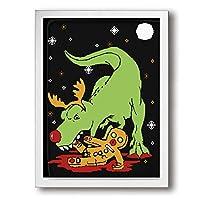 King Duck クリスマス 絵画 インテリア フレーム装飾画 アートポスター 壁画 アートパネル 壁掛け 木枠付き White