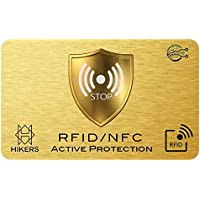 RFID/NFC Blocking Card - Contactless Cards Protection - 1 Card Protects Your Entire Wallet - No Fiddly Sleeves - Wallets & Clip Holders, Walletguard - Safeguard Antispying Antitracking Signal Safety