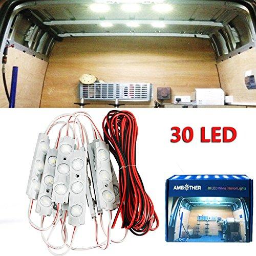 AMBOTHER ルームランプ LEDパネル 車 室内照明 汎用 30連LED 5630-SMD 10セット 超高輝度 防水 全長5M