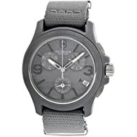 腕時計 Victorinox Swiss Army Men's 241532 Original Chronograph Grey Nylon Strap Watch【並行輸入品】
