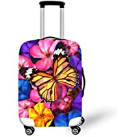 OSVINO Butterfly Print Elastic Suitcase Cover 18-28 Inches Luggage Protector