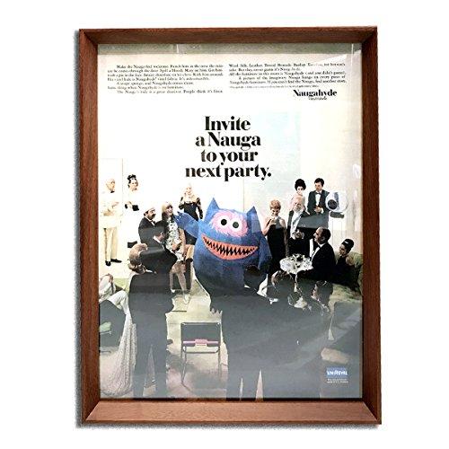ナウガハイド ナウガモンスター 品番05 1960年代 ビンテージ広告 ポスター アートフレーム 額付 イームズ ハーマンミラー ノール
