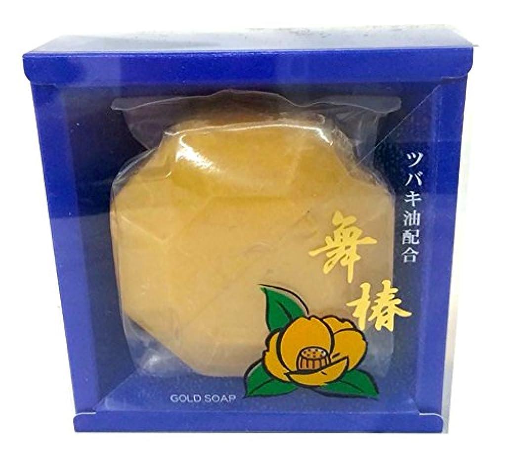 振る舞う矩形シャツ舞椿ゴールドソープ (ツバキオイル配合)110g