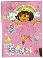 Dora the Explorer Ultra Soft Plush Throw Blanket Let's Imagine! [並行輸入品]
