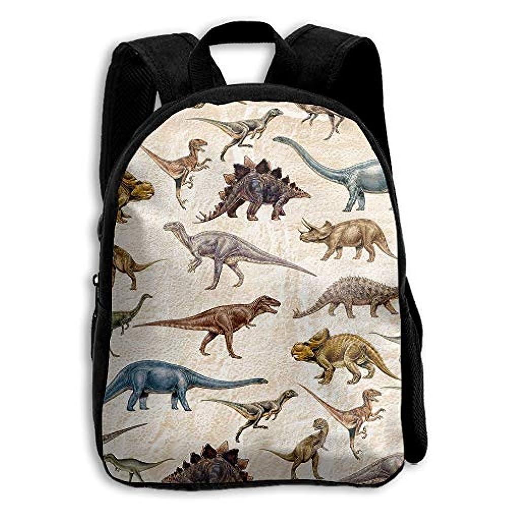進む早熟稚魚キッズ バックパック 子供用 リュックサック 恐竜パターン ショルダー デイパック アウトドア 男の子 女の子 通学 旅行 遠足
