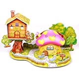 Mushroom Tree House 3D Puzzle Dollhouse, The Best DIY Gift for Children, Toys Game