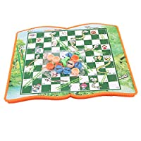 Winwinfly 折り畳み式のヘビの梯子のチェスのおもちゃの従来のゲーム家族のボードゲーム,ヘビとはしご