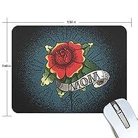 Anmumi マウスパッド 滑り止め 花柄 バラ 19×25×0.5cm ゲームに適用 かわいい オシャレ レディース メンズ 子供 ゴム 実用性 パソコン対応
