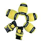 WinLine キッズプロテクター 膝/肘/手首 スポーツプロテクター 保護パッド 6点セット 3色 (イエロー)