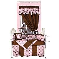 Hoohobbers 4-Piece Crib Bedding, Dots Pink by Hoohobbers