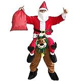 サンタクロース コスチューム 大人用 コスプレ 衣装 セット メンズ クリスマス パーティー (Christmas Reindeer)