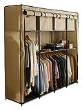 ワードローブ 大容量 衣類収納 ベージュ WR-G002