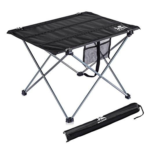 アウトドアテーブル キャンプ用 アルミ製 軽量 Hotwolf ロールテーブル 折りたたみ アウトドア BBQ 収納ケース付き