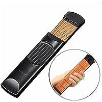 ミニ木製ポケットギターポータブルギター練習ツールガジェットギター弦トレーナー6 Fret弦運指練習ツール# 01 – 009