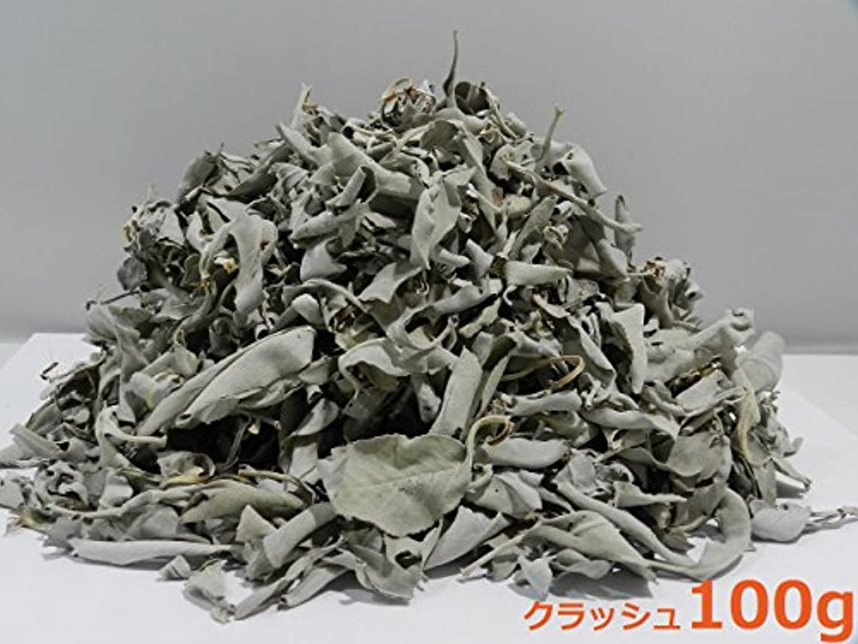 単位ヘルパースクレーパーカリフォルニア産 浄化用 ホワイトセージ /White Sage クラッシュ 100g☆海外輸入品