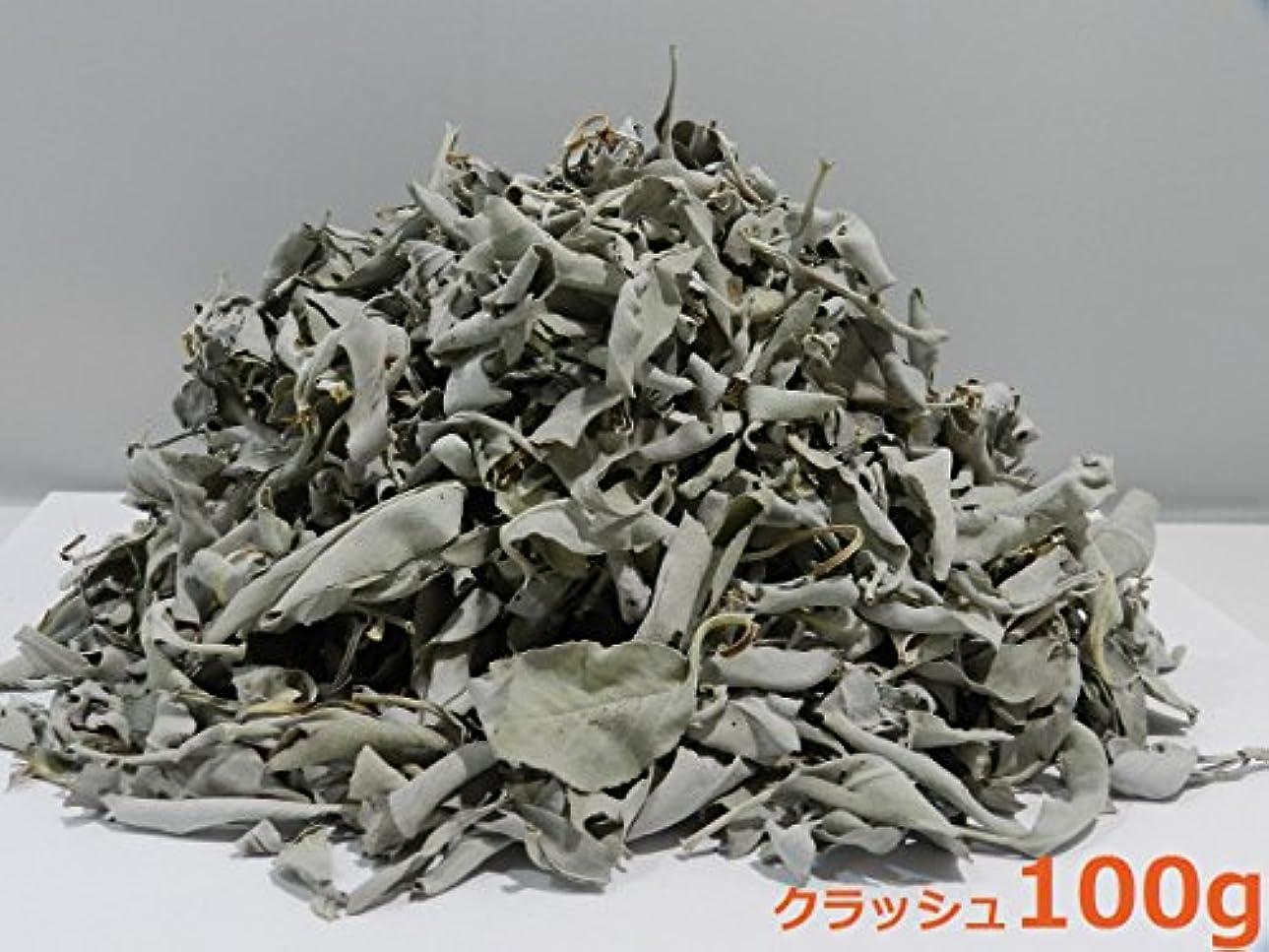 中止しますボイコット順応性カリフォルニア産 浄化用 ホワイトセージ /White Sage クラッシュ 100g☆海外輸入品