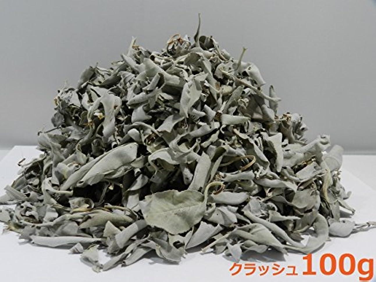 自分とげ控えめなカリフォルニア産 浄化用 ホワイトセージ /White Sage クラッシュ 100g☆海外輸入品