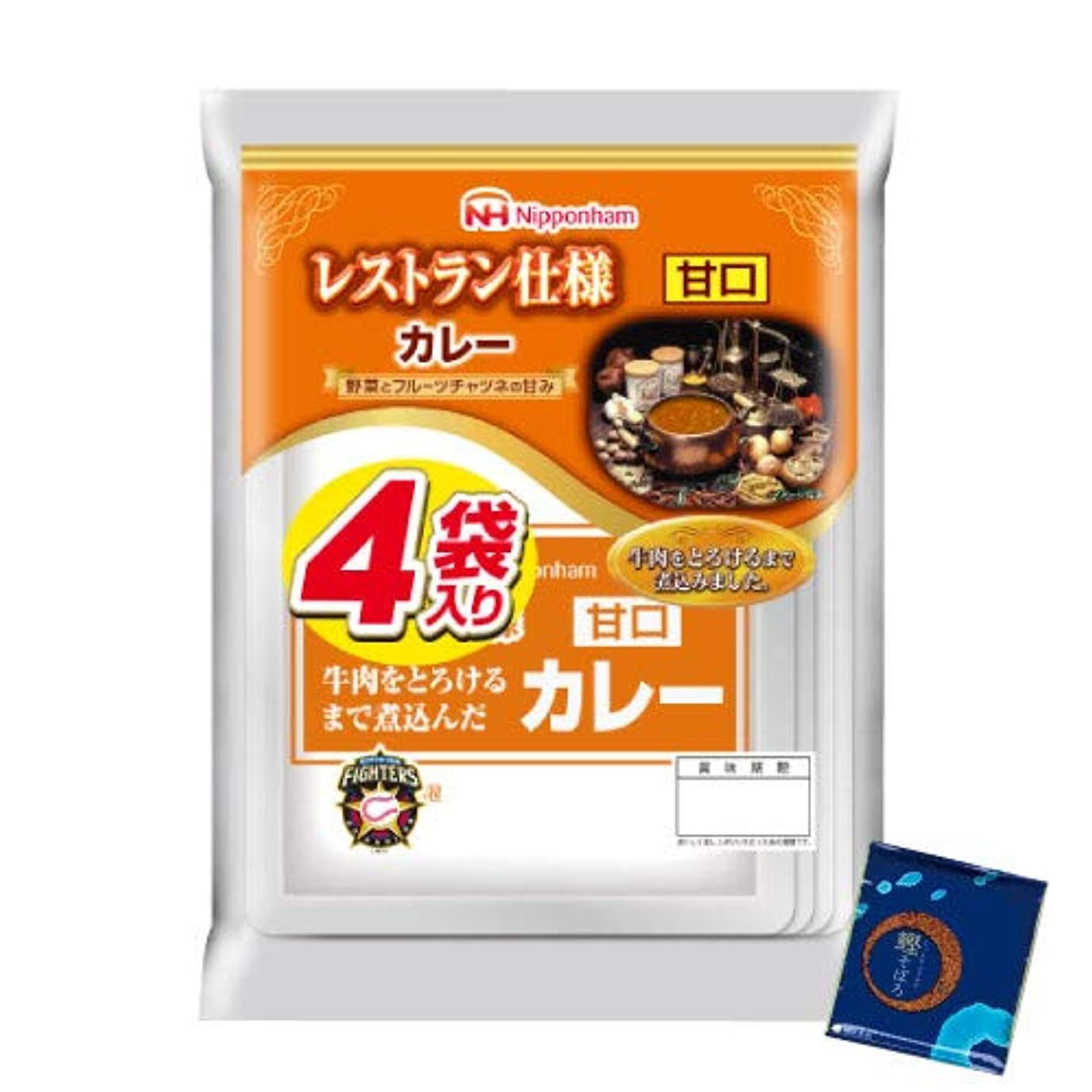 故障記憶決定的日本ハム レトルト カレー 甘口 16食 レストラン仕様 小袋鰹ふりかけ1袋 セット