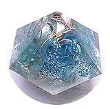 毘殊[Bijyu] ダイヤ型 アパタイト オルゴナイト 薔薇入り bijyu-186