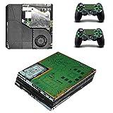 Hzjundasi ボディラップステッカースキンデカールプロテクターフェイスプレート for Playstation 4 Pro PS4 Pro Console&Controller #0147