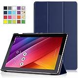 「ASUS ZenPad 10 Z300C ケース - ATiC ASUS ZenPad 10 Z300C /ZenPad 10 Z301MFLタブレット専用開閉式三つ折薄型スタンドケース INDIGO」のサムネイル画像