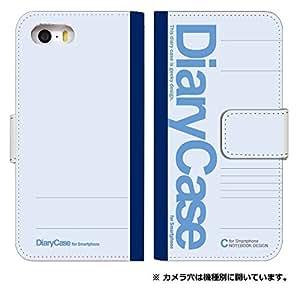 [iPhone6Plus] スマホケース 手帳型 ケース デザイン手帳 アイフォン6 プラス 8056-B. 大学ノートブルー かわいい おしゃれ かっこいい 人気 柄 ケータイケース