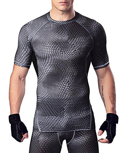 (オナー)HONOUR メンズ スポーツシャツ コンプレッションウェア MA20 ダークグレー L