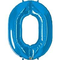 クォラテックス社バルーン数字 (0)大きさ約90センチ ブルー Qualatex number big baloon お誕生日 飾り 数字 ナンバー