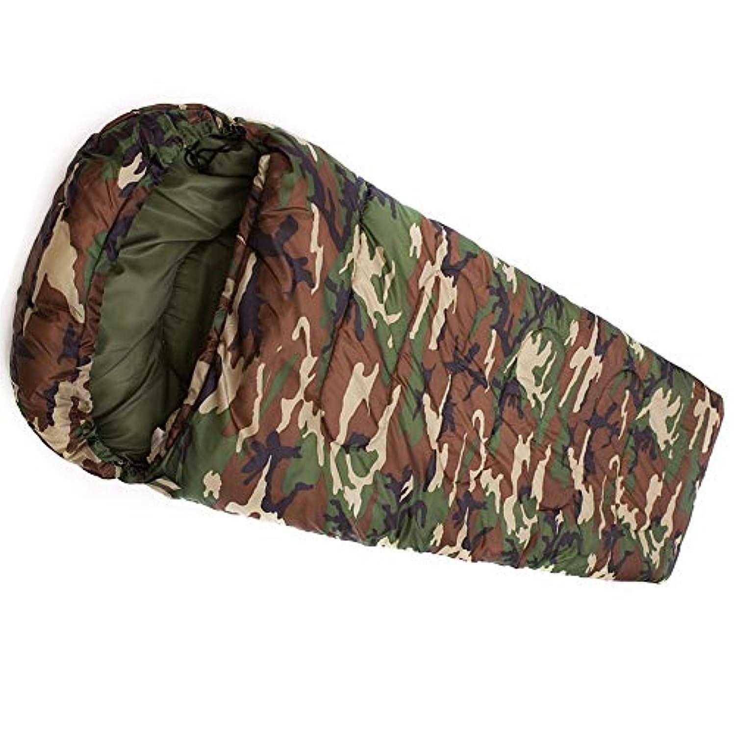 アブストラクトに変わる基本的なZXF 封筒/長方形屋外厚迷彩寝袋秋冬超軽量キャンプオフィスランチブレイク大人 暖かくて快適です