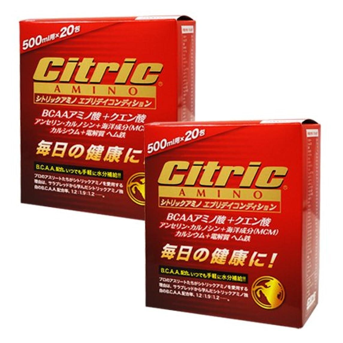 シトリックアミノ エブリデイコンディション 120g(6g×20包)×2箱