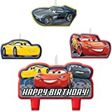 Disney Cars 3 Birthday Candles Set Pack of 4