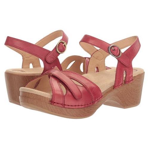 (ダンスコ)Dansko レディースサンダル・靴 Season Red Burnished US Women's 5.5-6 23-23.5cm Regular [並行輸入品]