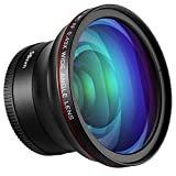 Neewer 58mm 0.43x HD 魚眼広角レンズ マクロクローズアップ部分付き