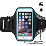 TERSELY Sports Armband for iPhone 11 Pro Max/7/8 Plus/XR/Xs, Fingerprint Gym Running Fitness Workout/Exercise Water Resistant Key/Card Holder Arm Band Case for Samsung S20/Plus/Note 10+ 5G (Black)