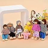 7個入り家族木製人形おもちゃセット ベビー用品 知育おもちゃ 赤ちゃん おもちゃ 人形セット 家族 縫いぐるみ 木製人形
