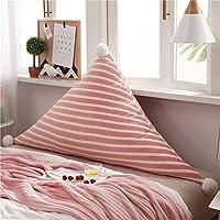 スモールフレッシュ かわいい ベッドサイド クッション,背中に大きく三角形の寝室,ソフトバッグ 畳 プリンセス 腰枕-12 120*75cm