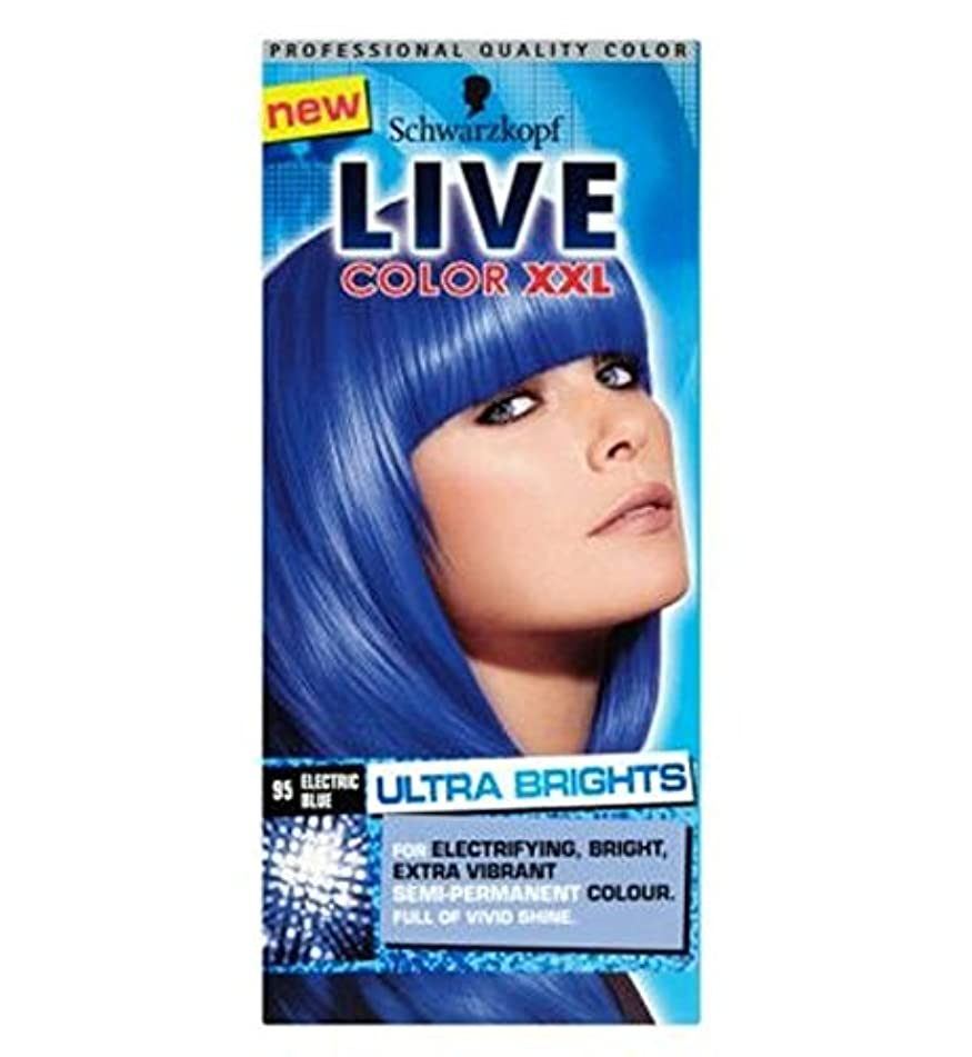 Schwarzkopf LIVE Color XXL Ultra Brights 95 Electric Blue Semi-Permanent Blue Hair Dye - シュワルツコフライブカラーXxl超輝95エレクトリックブルー...