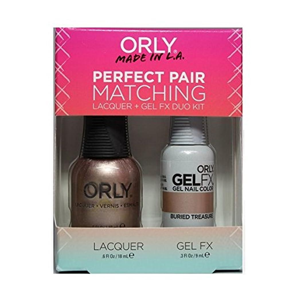 七面鳥アレルギー突進Orly - Perfect Pair Matching Lacquer+Gel FX Kit - Buried Treasure - 0.6 oz / 0.3 oz