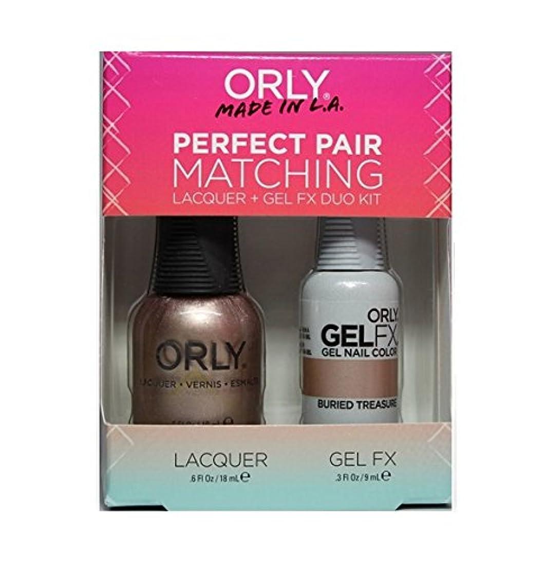 名誉雨の晩ごはんOrly - Perfect Pair Matching Lacquer+Gel FX Kit - Buried Treasure - 0.6 oz / 0.3 oz