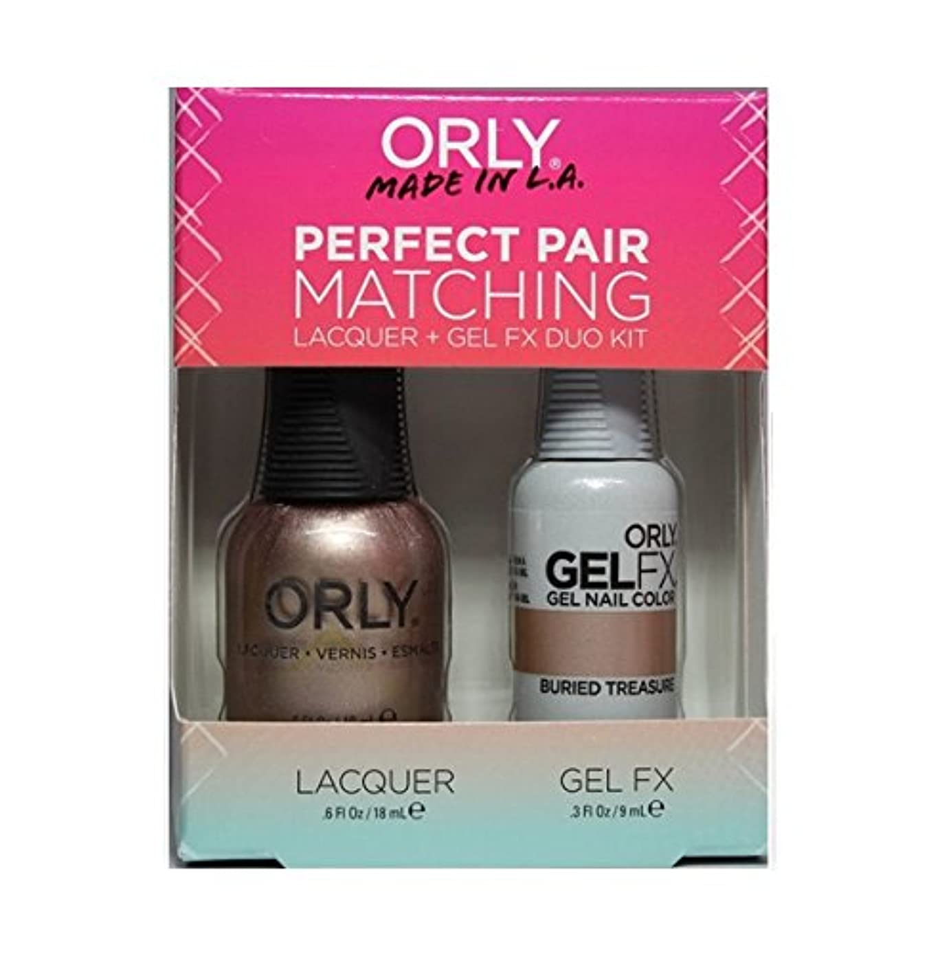メッシュ九時四十五分クリケットOrly - Perfect Pair Matching Lacquer+Gel FX Kit - Buried Treasure - 0.6 oz / 0.3 oz
