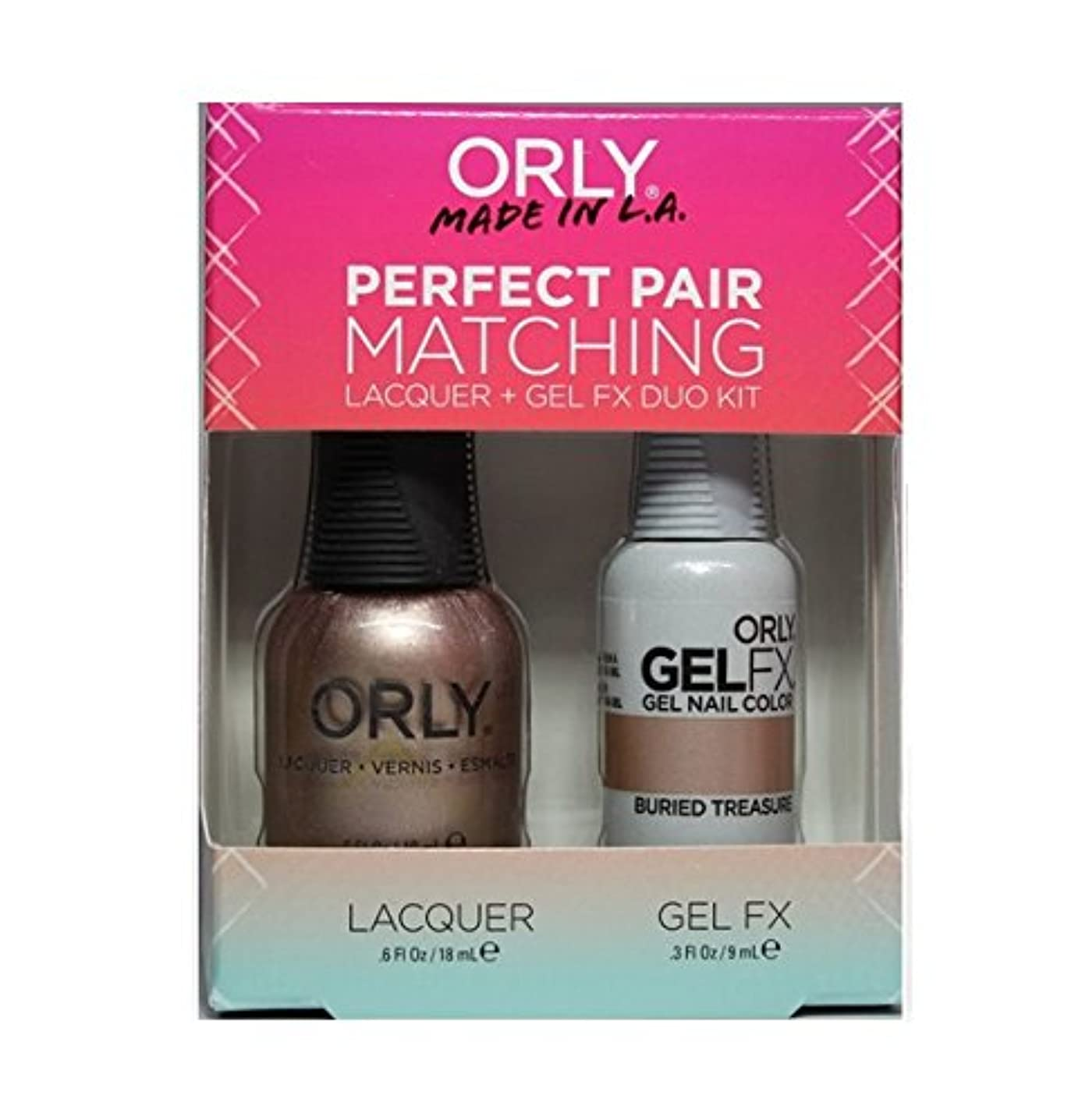 資産研磨剤表現Orly - Perfect Pair Matching Lacquer+Gel FX Kit - Buried Treasure - 0.6 oz / 0.3 oz