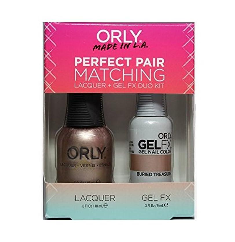 略すコインランドリー硬いOrly - Perfect Pair Matching Lacquer+Gel FX Kit - Buried Treasure - 0.6 oz / 0.3 oz