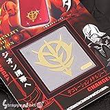 [機動戦士ガンダム]デコレーションメタルシート01(ジオン/ゴールド)