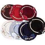 [レジーナ] LEGINA ロリータ風 リボン付 ベレー帽 7カラー 高品質 ゴシック・ゴスロリファッションに 女性用アクセサリー [CS-LE-0665]