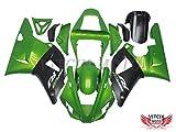 VITCIK 外装パーツセット プラスチックABS射出成型 完全なオートバイ車体 フェアリングキット アフターマーケット車体フレーム 対応車種 ヤマハ Yamaha YZF1000R1 00-01 00 01 YZF1000 R1 2000-2001 2000 2001(グリーン & ブラック) A033